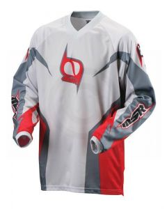 (CLEARANCE MSR) - MSR M9 Axxis Men's MX Jersey - Red Grey