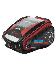 (CLEARANCE) OXFORD X30 QUICK RELEASE TANK BAG - RED