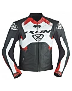 (CLEARANCE) Ixon Voltage Air perforated Leather Jacket (Black/White/Red)