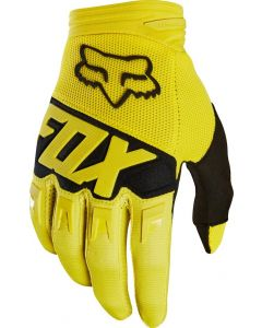 (CLEARANCE) FOX 2018 DIRTPAW RACE YOUTH GLOVES - YELLOW