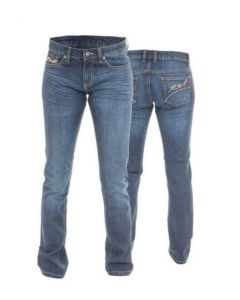 (CLEARANCE) RST LADIES STRAIGHT LEG JEANS - BLUE