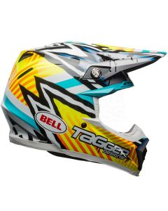 (CLEARANCE) Bell MOTO-9 MIPS TAGGER ASYMETRIC - YEL/BLU/WHI