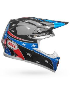 (CLEARANCE) Bell MOTO-9 MIPS TOMAC EAGLE - GLOSS RED/BLU/BLK