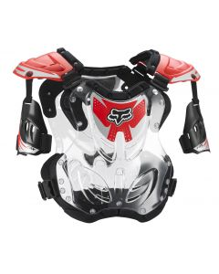 FOX 2018 R3 ROOST DEFLECTOR - RED (SIZE SMALL)