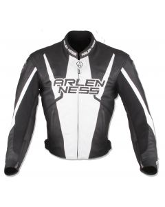 (CLEARANCE) Arlen Ness Accelerate Leather Jacket - Black/White (RO)