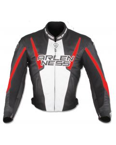 (CLEARANCE) Arlen Ness Accelerate Leather Jacket - Black/Red (RO)