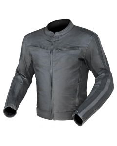 (Clearance) Dririder Assen Leather Jacket -Black