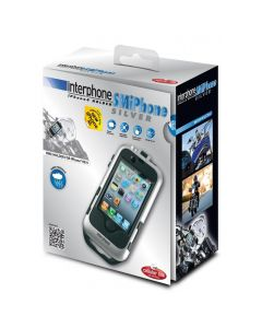 (CLEARANCE) INTERPHONE BAR MOUNT SMARTPHONE HOLDER - IPHONE 4 SILVER INSM06