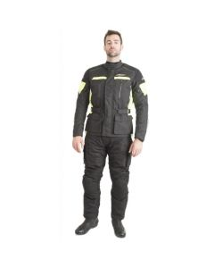 (CLEARANCE) RST Tourmaster Waterproof Textile Jacket - Black/Fluro Yellow