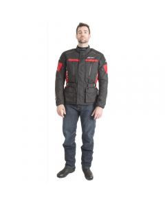 (CLEARANCE) RST Tourmaster Waterproof Textile Jacket - Black/Red