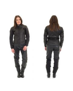 (CLEARANCE) RST Women's Madison II Leather Jacket - Black