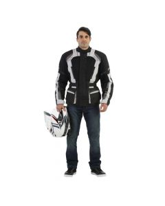 (CLEARANCE) RST Mens Tundra Vented Textile Jacket - Black/Silver