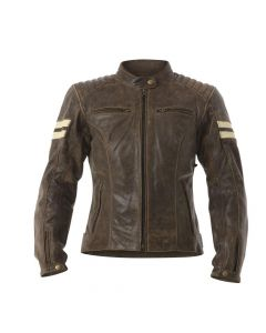 (CLEARANCE) RST Roadster Classic Women's Leather Jacket - Brown