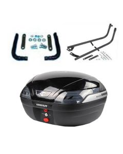 COOCASE S48 ASTRA LUXURY TOPBOX 48L - BLACK - COMPLETE KIT