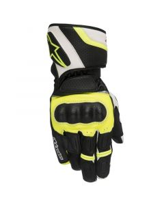 (CLEARANCE) ALPINESTARS SP Z DRYSTAR GLOVES - BLACK / WHITE / FLURO