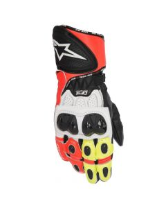 (CLEARANCE) ALPINESTARS GP PLUS R GLOVES - BLACK / WHITE / RED / FLURO