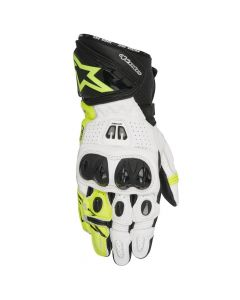 (CLEARANCE) ALPINESTARS GP PRO R2 GLOVES - BLACK / WHITE / FLURO