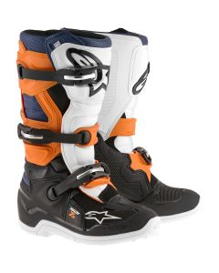 Alpinestars 2017 TECH 7S YOUTH BOOTS - BLACK/ORANGE/WHITE/BLUE