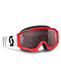 (CLEARANCE) SCOTT HUSTLE GOGGLE - Red/Black with Silver Chrome Lens
