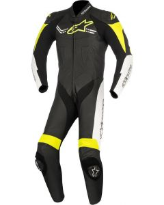 (CLEARANCE) Alpinestars Challenger V2 1-Piece Leather Suit (Black/Fluro/Yellow)