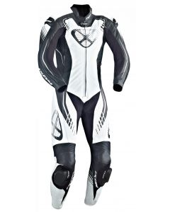 (CLEARANCE) Ixon Starbust 1-Piece PERFORATED Leather Suit (Black/White/Silver)