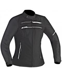 (CLEARANCE) Ixon Zetec Ladies HP Textile Jacket - Black/White