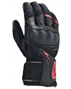 (CLEARANCE) Ixon Pro Apex 2 HP Leather Gloves - Black/Red