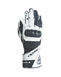 (CLEARANCE) Ixon RS Curve HP Ladies Leather Gloves - Black/White