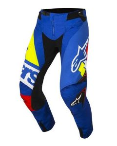 (CLEARANCE) Alpinestars 2018 TECHSTAR FACTORY PANTS - BLUE/RED/WHITE/YELLOW