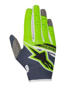 (CLEARANCE) Alpinestars 2018 RADAR FLIGHT GLOVES - ANTHRACITE/GREEN FLUO