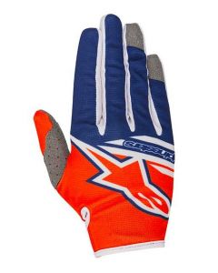 (CLEARANCE) Alpinestars 2018 RADAR FLIGHT GLOVES - ORANGE FLUO/DARK BLUE/WHITE