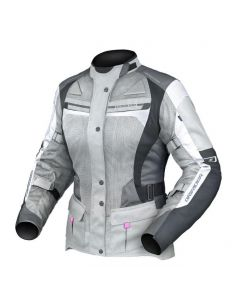 (CLEARANCE) DRIRIDER APEX 4 AIRFLOW LADIES TEXTILE JACKET - WHITE/GREY