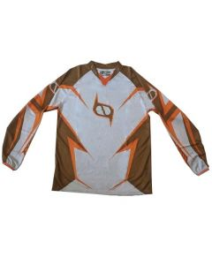 (CLEARANCE MSR) - MSR M9 Axxis Womens MX Jersey - ORANGE BROWN