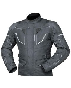 (CLEARANCE) DRIRIDER NORDIC 4 LEATHER/TEXTILE SPORTS TOURING JACKET - BLACK