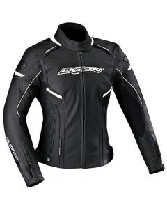 (CLEARANCE) IXON STUNTER LADIES BK/WH  - Motorcycle Jacket