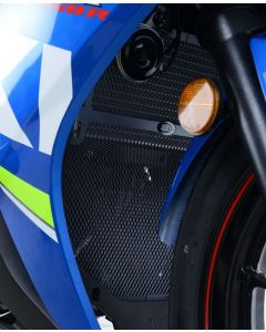 R&G RADIATOR AND DOWNPIPE GUARD  (one piece) SUZ GSX250R '17- (COLOUR:DARK BLUE)