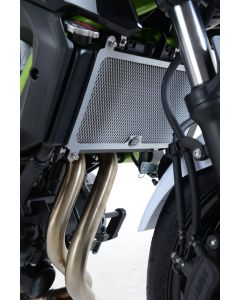 R&G RADIATOR GUARD - KAW Z650 NINJA 650 '17- (COLOUR:BLACK)
