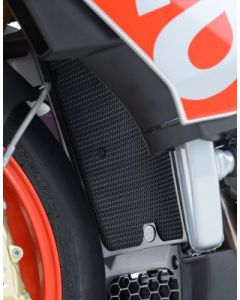 R&G RADIATOR GUARD APR TUONO RSV4 15- (COLOUR:BLACK)