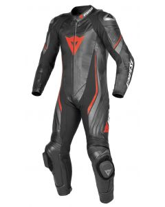 (CLEARANCE) DAINESE Motorcycle Suit - TRICKSTER EVO C2 1 PCE BLACK/BLACK/FLUO-RED