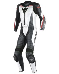 (CLEARANCE) DAINESE Motorcycle Suit - LAGUNA SECA D1 2 PCE WHITE/BLACK/RED - FLUO