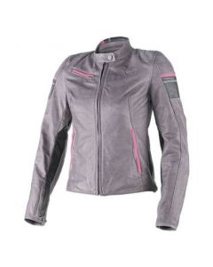 (CLEARANCE) DAINESE Lady Leather Motorcycle Jacket - MICHELLE  SMOKE/BLACK/FUCHSIA