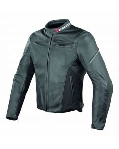 (CLEARANCE) DAINESE Lady Leather Motorcycle Jacket - CAGE PELLE NERO/NERO/NERO