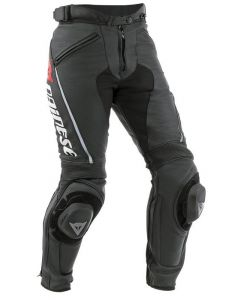 (CLEARANCE) DAINESE Lady Leather Motorcycle Pants - DELTA PRO C2  BLACK/BLACK
