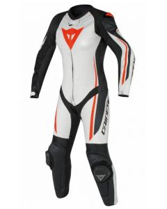 DAINESE ASSEN 1PCE PERF LADY WHITE/BLACK/RED-FLURO  - Motorcycle Suit