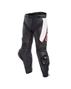 DAINESE DELTA 3 LADY LEATHER  BLACK/BLACK/WHITE  - Motorcycle Pants