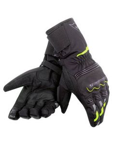 DAINESE TEMPEST UNISEX D-DRY LONG  BLACK/YELLOW-FLURO  - Motorcycle Gloves