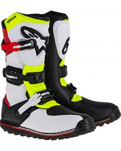 ALPINESTAR Tech T Trials White Red Fluro Yellow - Motocross Boot