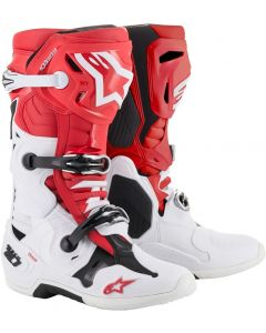 ALPINESTAR Tech 10 Red White Black - Motocross Boot