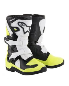 ALPINESTAR Tech 3S Kids Black White Fluro Yellow - Motocross Boot