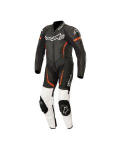 ALPINESTAR Leather Gp Plus Youth 1 Piece Suit Black White Fluro Red - Motorcycle Suit